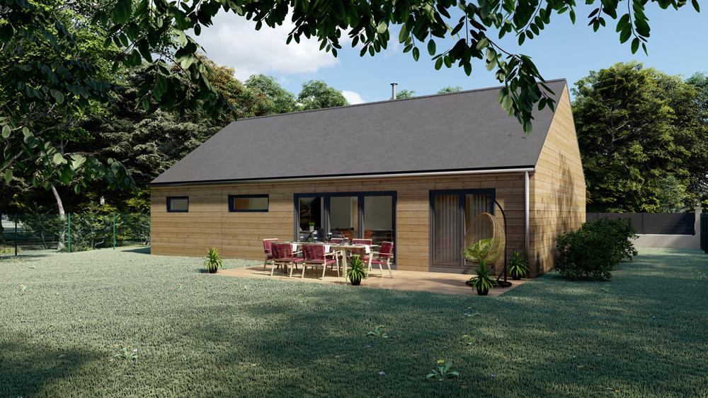 maison ossature bois à toit